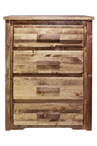 Montana Woodworks Homestead Collection 4-Drawer Chest of Drawer, Stain and Lacquer Finish