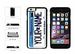 Personalized Custom Minnesota License Plate Plastic Phone Case Back Cover iPhone 6 Plus (5.5 inches)