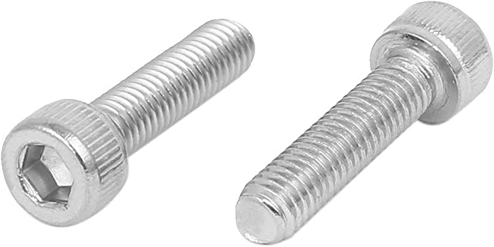 M5x20mm Filetage 304 Vis /à t/ête cylindrique six pans creux en acier inoxydable DIN912 20pcs