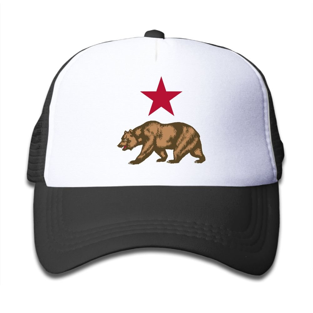 Elephant AN California Star And Bear Mesh Baseball Cap Kid Boys Girls Adjustable Golf Trucker Hat