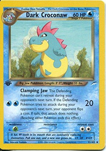 Pokemon Neo Destiny 1st Edition Uncommon Card #32/105 Dark Croconaw ()