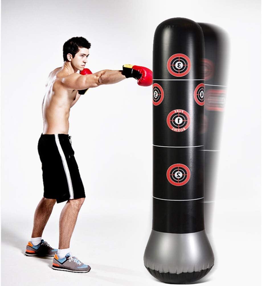 Fandazzie Inflatable Punching Bag Tumbler Freestanding Target Training Tower Boxing Column Pads