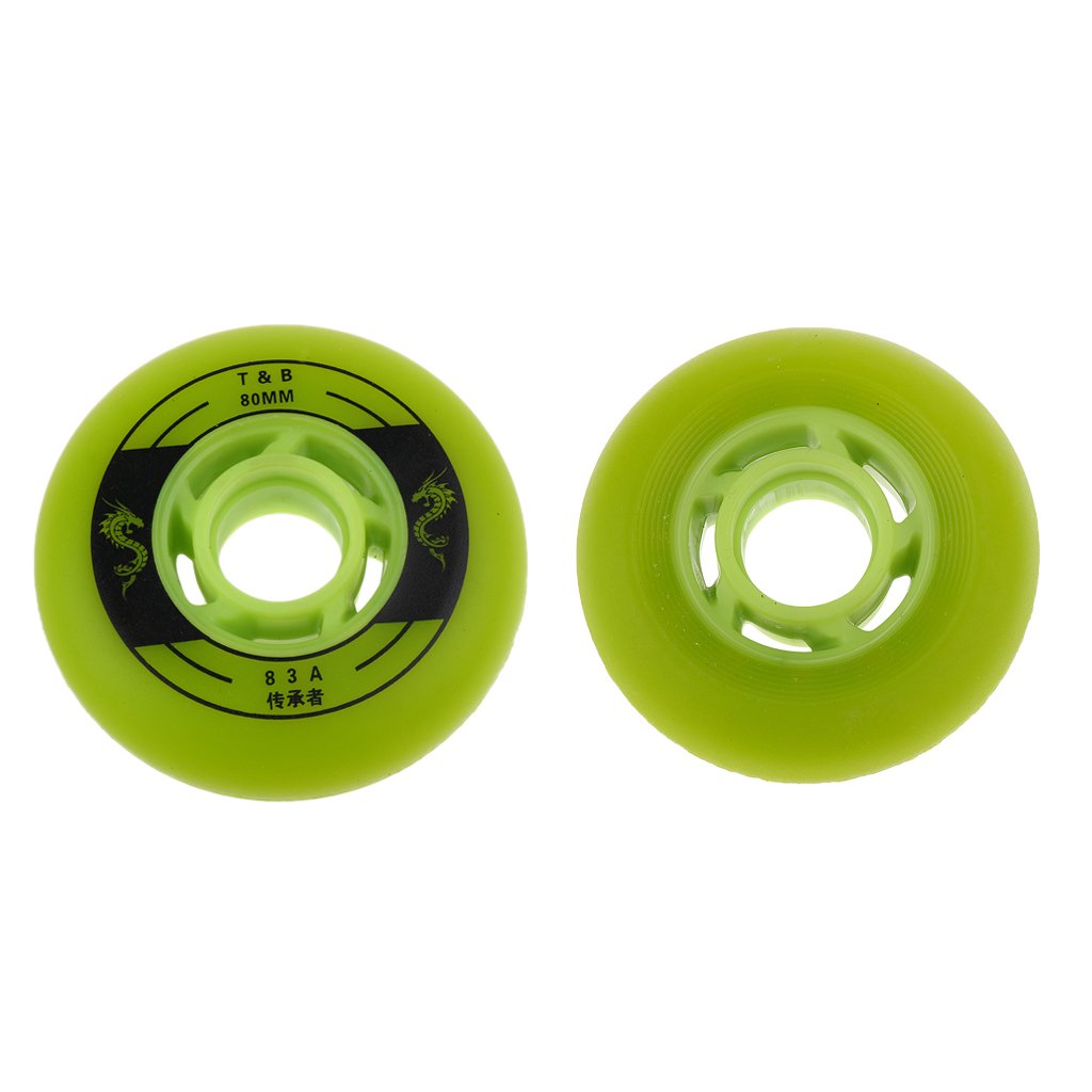 MagiDeal 4 Pieces LED Lights Flashing Inline Roller Skate Wheels 72mm 76mm 80mm White Red Green Blue