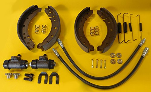 Volkswagen Brake Drum - 1971-79 VW SUPER BEETLE, TYPE 1, COMPLETE FRONT BRAKE SHOE REBUILD KIT KT-1029