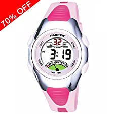 Viliysun Kids Watch 30M Waterproof Sport LED Alarm Stopwatch Digital Child Wristwatch for Boy Girl Gift