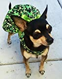 Dog clothes Harness dress Shamrocks