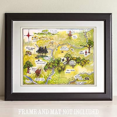 Classic Winnie The Pooh Winnie The Pooh 100 Acre Wood 11x14 Unframed Print