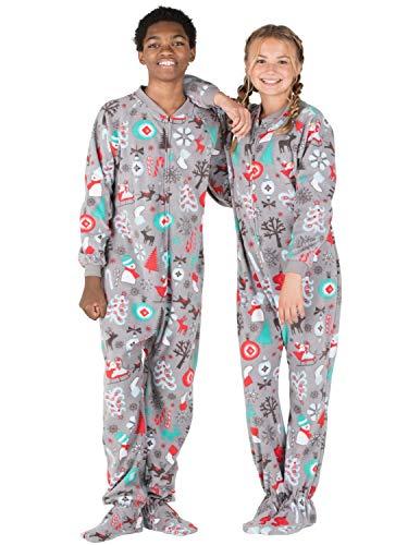 67f95605d3 Jual Footed Pajamas - Santa s Village Kids Fleece Onesie Gray ...