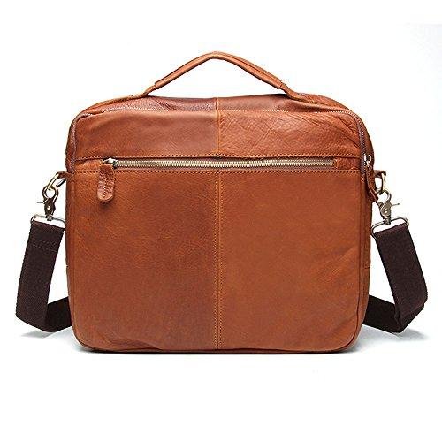 Giallo Borsa Valigetta colore Lavoro Messenger Brown Tote Bag Aziendale Da Ajzgf Uomo Tv6qA