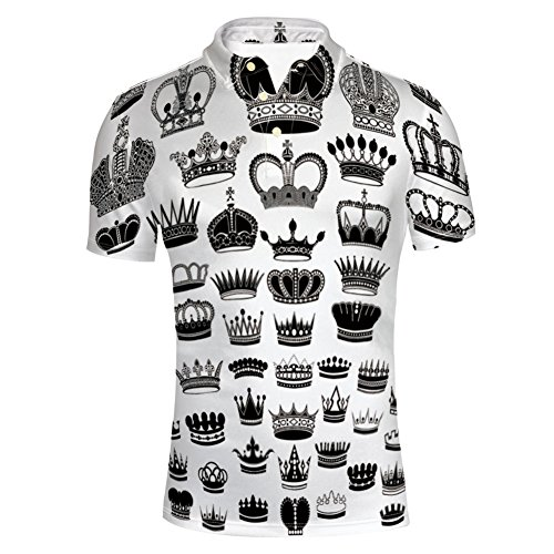 (iPrint T-Shirts Monarchy Imperial Ruler Icons Antique Ancient for Mens)