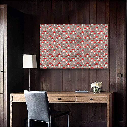 Gabriesl Decals for Home Room Decoration Mushroom Cute Amanita Polka Dot Mural Blackboard DIY White Size : W36 x - Dot Polka Mural