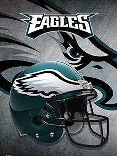 DIY 5D Diamond Painting Kits for Adults Beginner Gift for NFL Philadelphia Eagles Team Home Wall Decor 11.8x15.8 in (Nfl Cross Stitch)