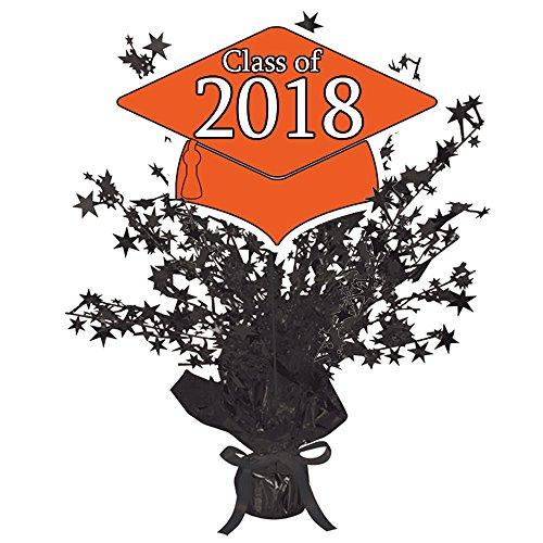 2018 GRADUATION ORANGE STAR CENTERPIECE (1 EACH) by (Graduation Table Centerpiece Ideas)