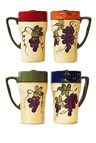 Colorful Grapes 4 Piece Travel Mug Set ()