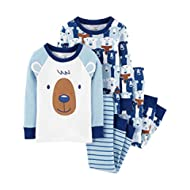 Boys' 4 Piece Cotton Sleepwear