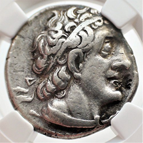 Tetradrachm Greek Silver Coin Ancient - EG 305/4-282 BC Ptolemaic Kingdom King Ptolemy I Ancient Authenticated Silver Antique Coin AR Tetradrachm Very Fine NGC