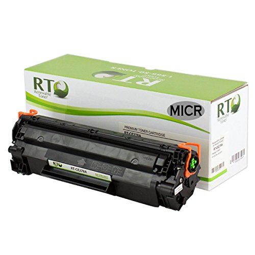 Renewable Toner Compatible MICR Toner Cartridge Replacement for HP CE278A 78A