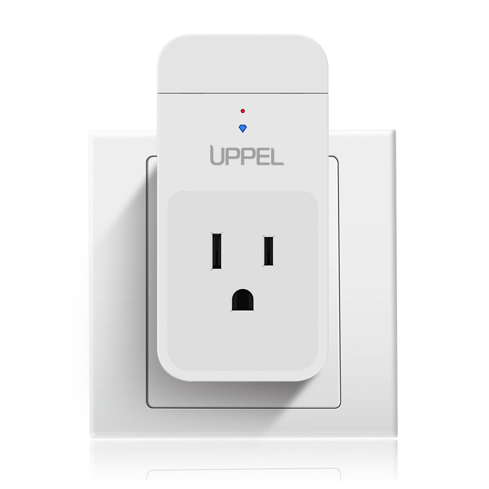 Smart Plug, UPPEL SM01 Wi-Fi Wireless Power Socket Smart Outlet with Energy Monitoring, Compatible with Alexa, White