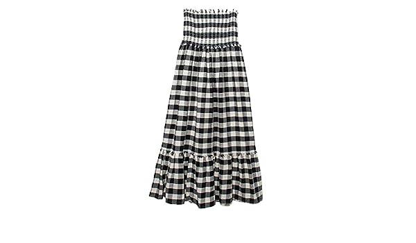 Parfois - Vestido/Falda Vichy - Mujeres - Tallas Única - Negro ...