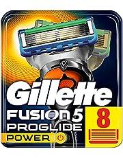 Gillette Fusion5 ProGlide Ostrza wymienne do maszynki, 8 sztuk, technologia FlexBall dopasowuje się do kształtów twarzy