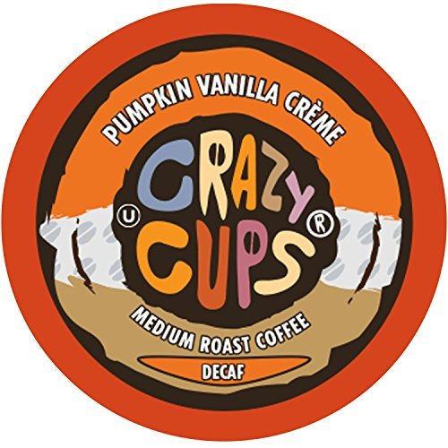 (Crazy Cups Flavored Decaf Coffee, for the Keurig K Cups 2.0 Brewers, Pumpkin Vanilla Creme,10.1 oz, 22 Count)