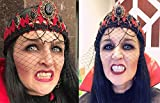 COOLJOY 3 Sizes Vampire Fangs Teeth with Adhesive