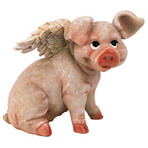 (Design Toscano Hog Heaven Flying Pigs Statue Collection: Sitting)
