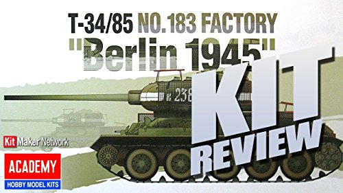 """Academy T-34/85 No. 183 Factory """"Berlin 1945"""" Model for sale  Delivered anywhere in USA"""