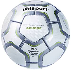 Uhlsport TC Sphere Soccer Ball, White/Anthracite, 4