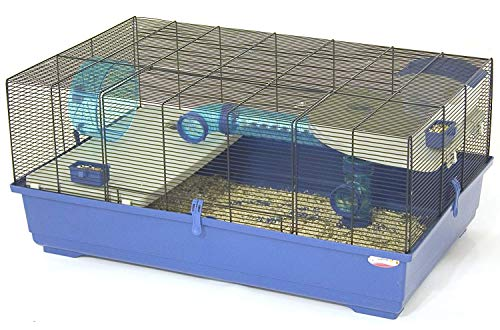 Marchioro Wheel - Marchioro Kevin 82 Cage for Small Animals, 32.25 inches, Blue/Black