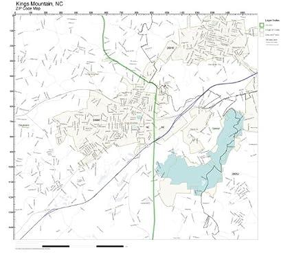 Mountain Home Ar Zip Code Map.Amazon Com Zip Code Wall Map Of Kings Mountain Nc Zip Code Map