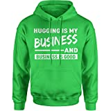 Expression Tees Hoodie Hugging is My Business Adult XX-Large Kelly Green