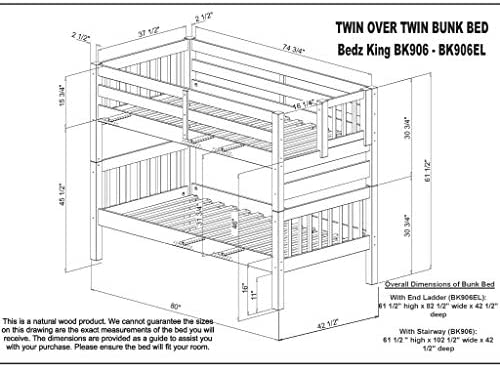 home, kitchen, furniture, bedroom furniture, beds, frames, bases,  beds 12 image Bedz King Stairway Bunk Beds Twin over Twin deals
