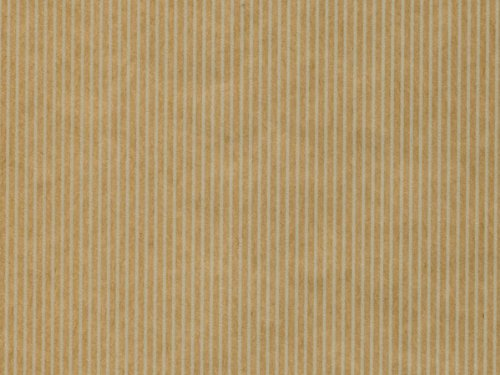 Pack of 1, Natural Pinstripe 24'' x 417 Gift Wrap Counter Roll (Kraft) for Holiday, Party, Kids' Birthday, Wedding & Special Occasion Packaging