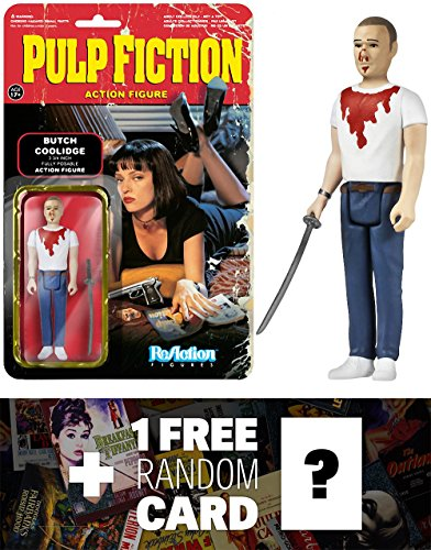 Butch: Funko ReAction x Pulp Fiction Action Figure + 1 FREE Classic Movie Trading Card Bundle (41526)