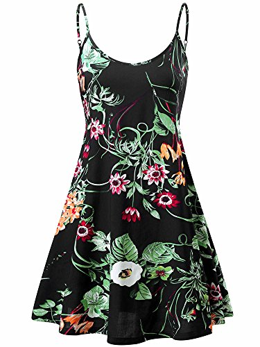 Beach 17 Ms6216 Summer Dress Adjustable Women's Sleeveless Swing MSBASIC Strappy ZOXgqnCP