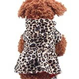Puppy Clothing, Howstar Pet Dog Leopard Hoodie Coat Lovely Warm Apparl Outfit (Brown, S)