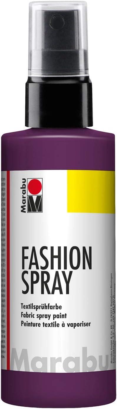 Marabu - Pintura Textil con pulverizador (100 ml), Color Morado Berenjena