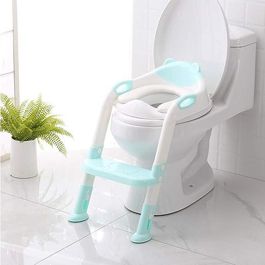 WZCMSL Cómodo Asiento para IR al baño Seguro con Funciones de ratón Anti-Slip Escalera, Asiento de Entrenamiento para IR al baño con el Paso de heces de Escalera,Soft: Amazon.es: Hogar