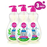 DAPPLE Baby Bottle and Dish Liquid, Fragrance Free Dish Soap, Sulfate-Free, Hypoallergenic, 16.9 Fluid Ounces (Pack of 3)