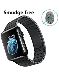 LDFAS Apple Watch Band 42mm Stainless Steel Link Bracelet - Space Black