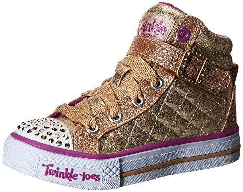 - Skechers Kids Shuffles Light Up Sneaker (Toddler/Little Kid),Gold Quilt,12 M US Little Kid