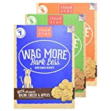 Cloud Star Wag More Bark Less Oven Baked Biscuits Variety 3 Pack – 1 Bacon Cheese & Apples – 1 Chicken & Carrots – 1 Peanut Butter – 16 oz Each For Sale