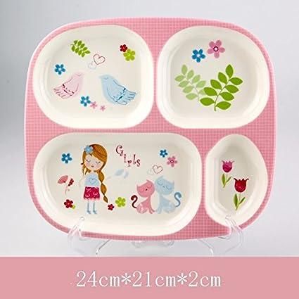 HOOM-Placas de porcelana de imitación de la creatividad de los niños bebé lactante los
