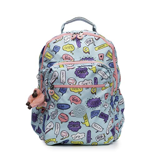 Kipling Seoul Go Laptop, Padded, Adjustable Backpack Straps, Zip Closure, Talking Bubbles