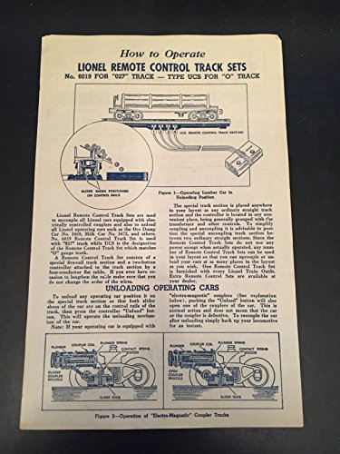 Operating Uncoupling Track - How To Operate Lionel Remote Control Track Sets