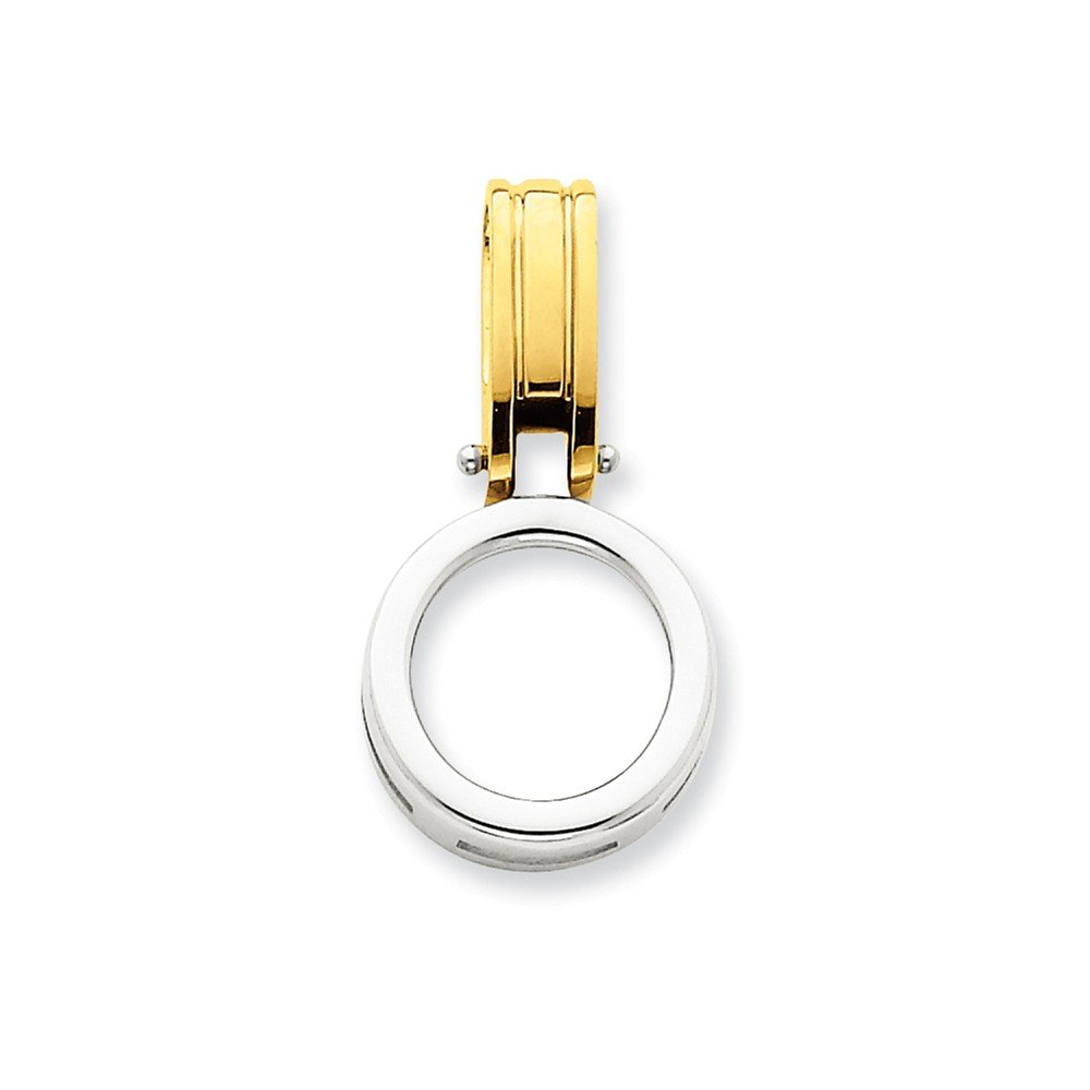 14k Two-tone Fits up to 3mm, 6mm Reversible Omega Slide