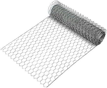 plateada hexagonal valla de tela met/álica 1 rollo de alambre para cercar animales Malla de alambre galvanizado pro.tec 50cm x 10m