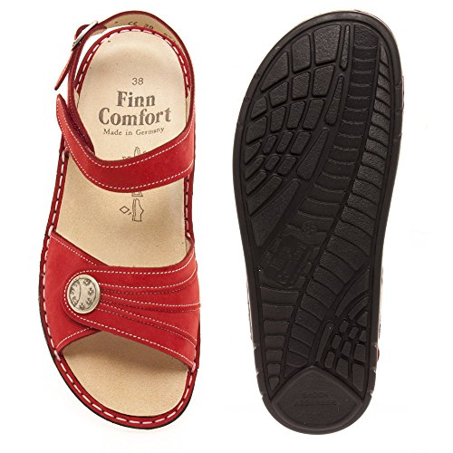 Finn Comfort Women's Sausalito Ankle-Strap Rocker Sandal Red Patagonia outlet free shipping cheap low cost sale online shop view 2k36Z
