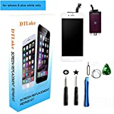 #8: For iPhone 6 plus LCD Replacement screen with Touch Screen Digitizer Fram Assembly Full Set + free Tools (white)
